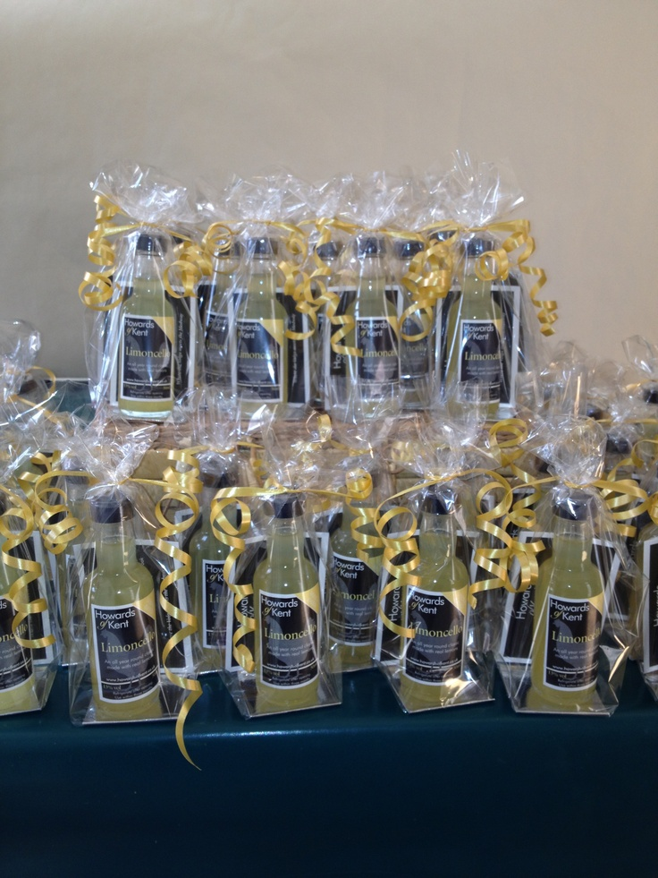 Wedding favours by Howards of Kent. #limoncello delicious!