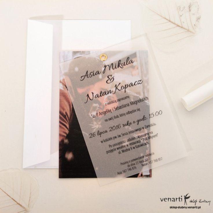 Zaproszenie ślubne Kalka ze zdjęciem