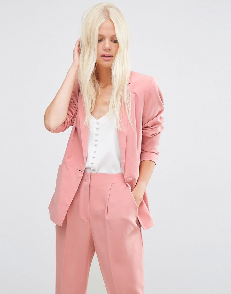Image 1 of ASOS Soft Lux Longerline Occasion Blazer