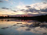 Torres Island at sunset.