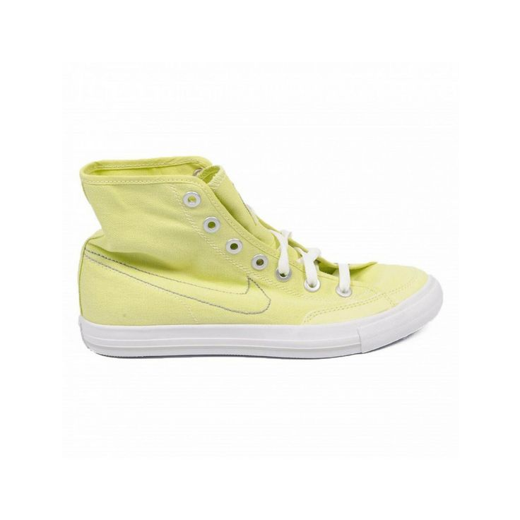 Nike Go Mid CNVS 434498/700 Women's High Top Sneaker, Yellow