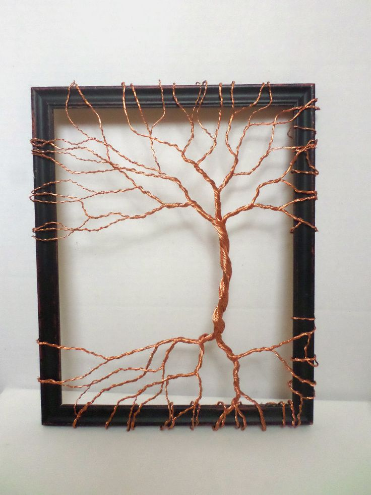Original sculpture art copper tree abstract unique wall Unique wall art