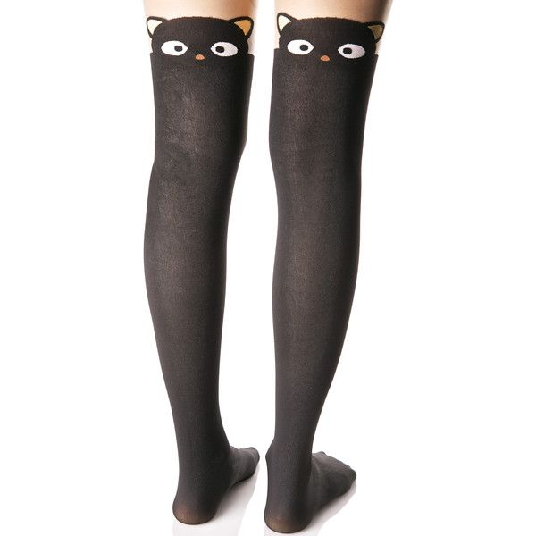Chococat Tights ($15) ❤ liked on Polyvore featuring intimates, hosiery, tights, sheer hosiery, sheer tights, opaque pantyhose, leg avenue and leg avenue stockings