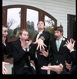 Funny wedding pictures for the grooms men