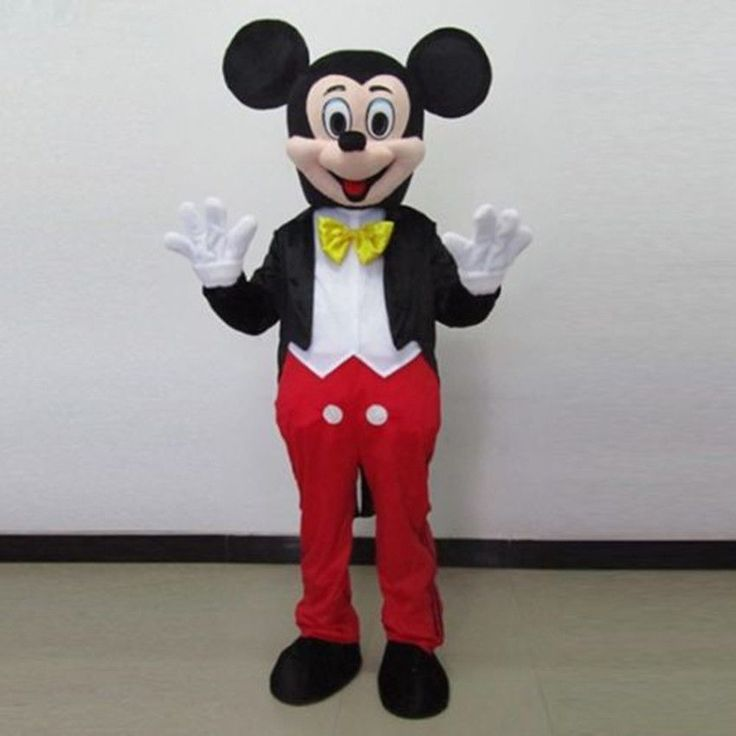 full Mickey Mouse Mascot Costume for Adult Performance on Party