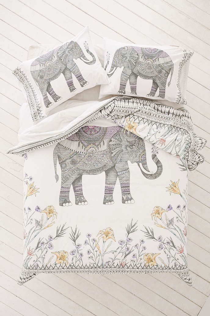 Magical Thinking Garden Elephant Duvet Cover - Urban Outfitters