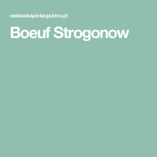 Boeuf Strogonow