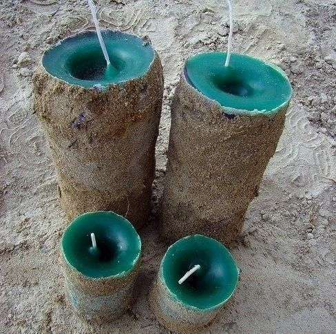 How to make a candle. Sand Candles - Step 4