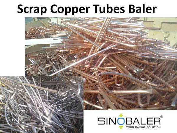 Scrap copper tubes are good recyclable materials. Start your scrap copper tube recycling from a scrap copper tubes baler.