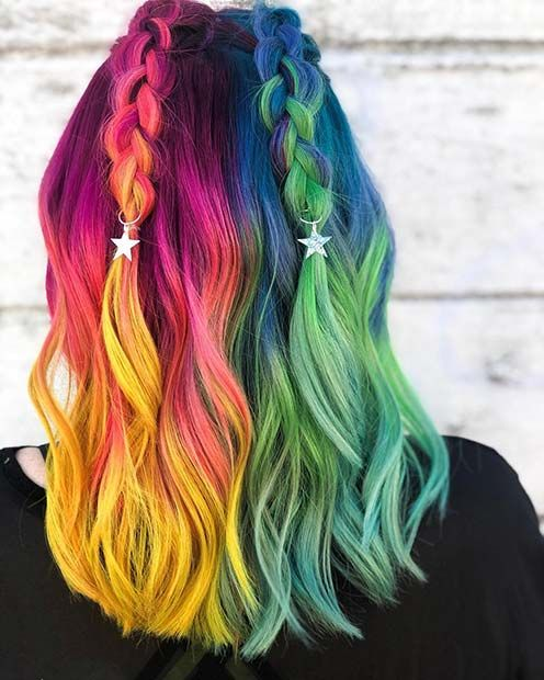 21 Einhorn Haarfarbe Ideen, die wir besessen sind #besessen #einhorn #haarfarbe …