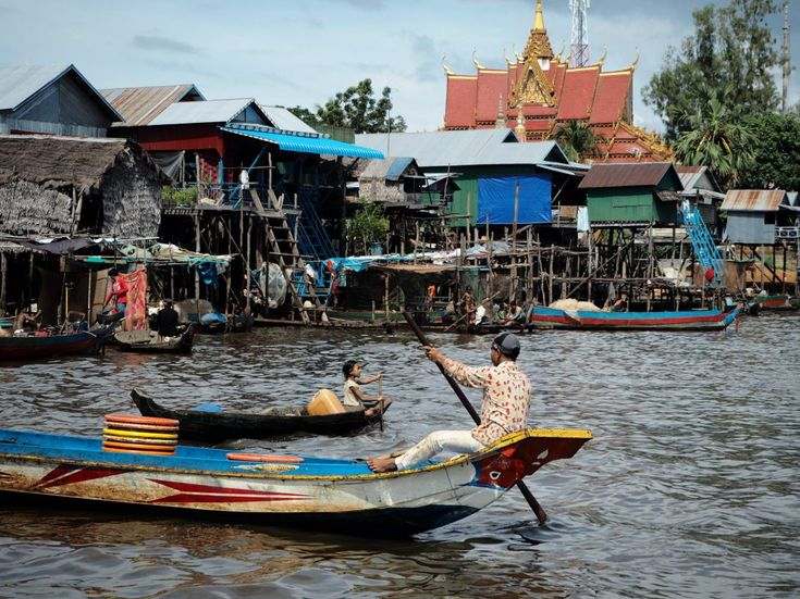 Tonle Sap, Southeast Asia's biggest freshwater lake is 20 km southeast of Siem Reap and you can visit 2 floating villages - by guided tour or by tuk-tuk.