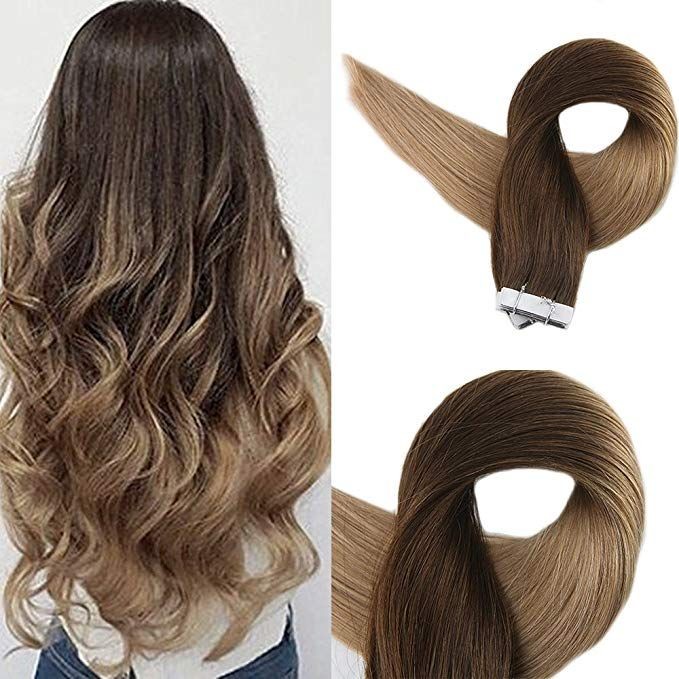 Full Shine 16 Inch 50g Per Package Tape In Hair Extensions Human