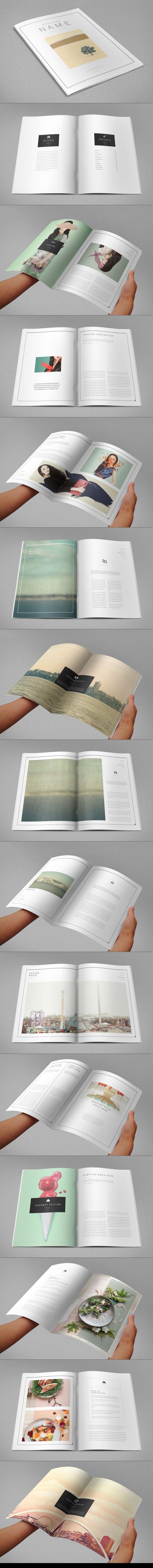 Minimal Modern Magazine. Download here: http://graphicriver.net/item/minimal-modern-magazine/9491836?ref=abradesign #magazine #design