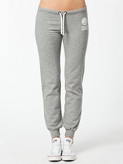 Pants Woman - Franklin & Marshall - Grå Melange - Byxor & Shorts - Kläder - Kvinna - Nelly.com