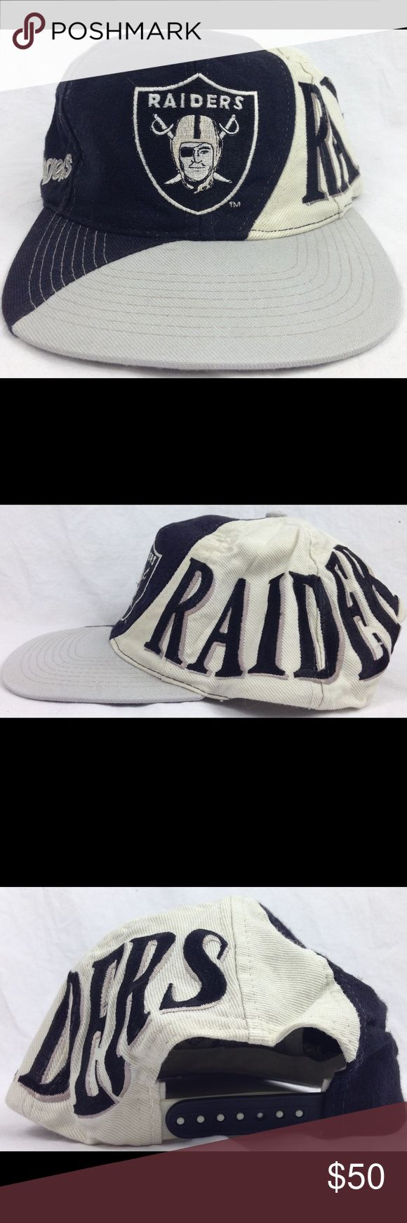 Vintage Los Angeles Raider Team NFL SnapBack Hat Hat is very rare and collectible. Very unique design. Hat is in good condition for its age. See pictures for details. Any questions please feel free to contact me. Accessories Hats