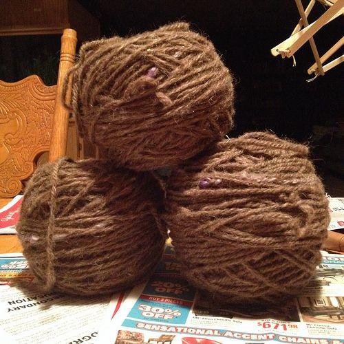 SpinHeartSpin: Knit notes - Handspun Sweater.