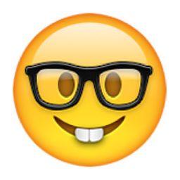 Nerd Face Emoji (U+1F913)