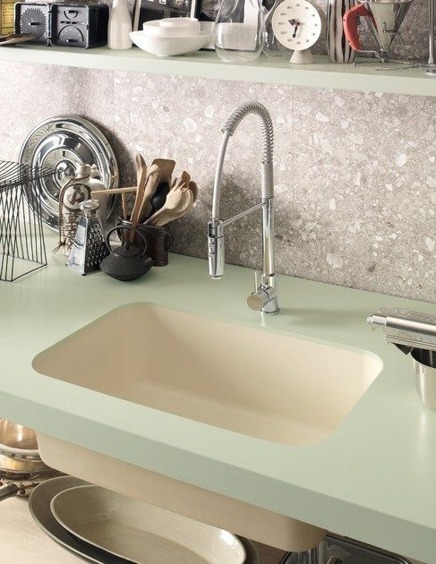 Lavello a una vasca filo top in Corian® Corian® SWEET by DuPont ...