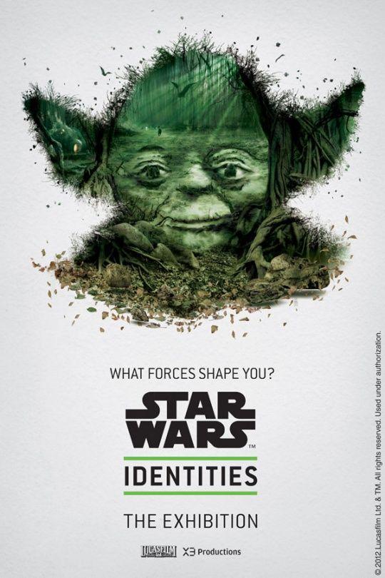 Digital Artwork by Gaetan Namouric: Exhibition Poster, Stars, Yoda, Star Wars, Movie Poster, Identities Exhibit, Photo, Starwars