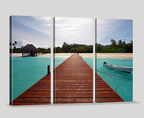 Large Wall Canvas ART Maldives Island Photo on Canvas Print + Ready to Hang + Great Gift
