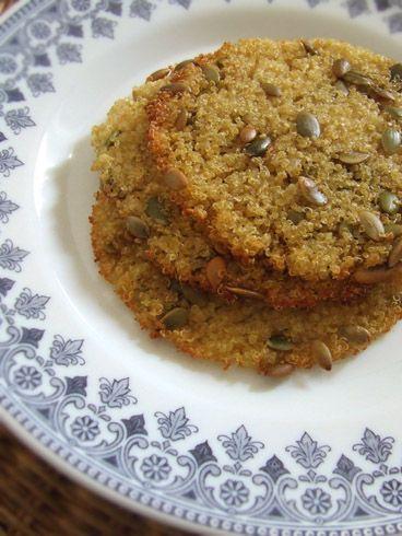 Cialde di quinoa e semi di zucca