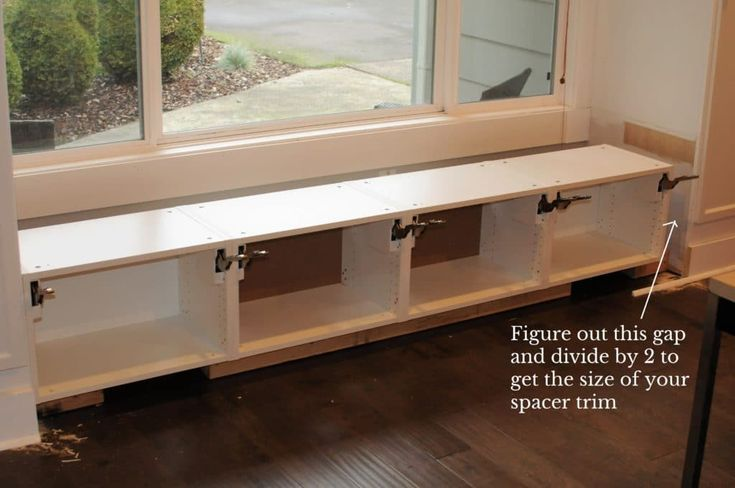 Diy Window Seat With Storage Out Of Ikea Cabinets Window Seat
