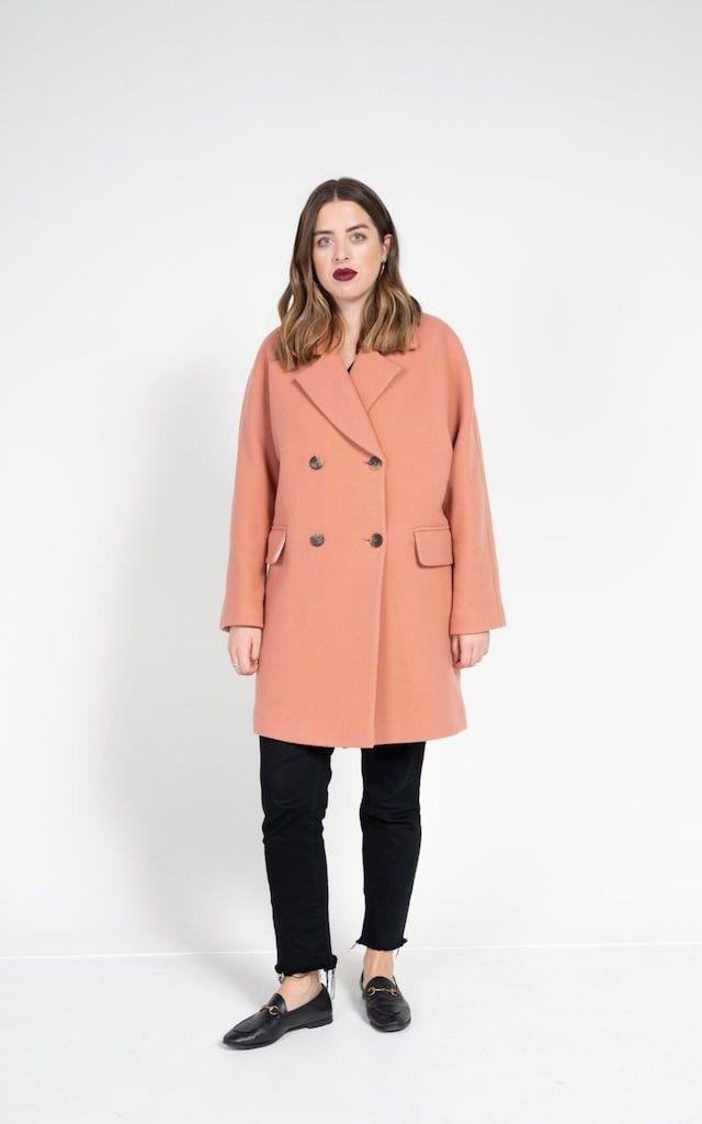 ee3ddc7da7e2 Wide-sleeved coat