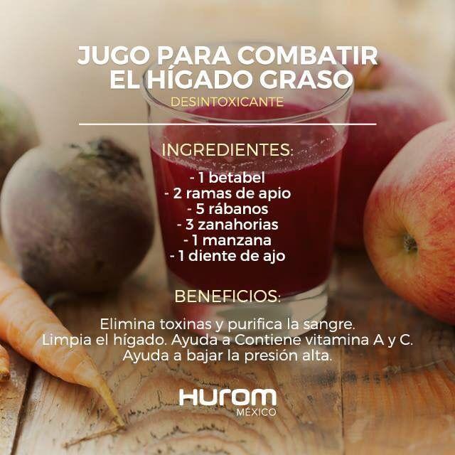 Jugo para h gado graso loe vera pinterest jugo salud y batidos - Alimentos para el higado graso ...