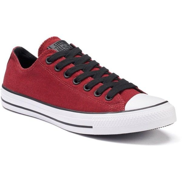 Men's Converse Chuck Taylor All-Star Back Alley Brick Low-Top Sneakers ($55) ❤ liked on Polyvore featuring men's fashion, men's shoes, men's sneakers, shoes, men, sneakers, dark red, g star mens shoes, mens low top basketball shoes and converse mens sneakers
