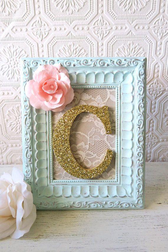 Baby Girl Nursery Decor Nursery Letters Pink by SeaLoveAndSalt
