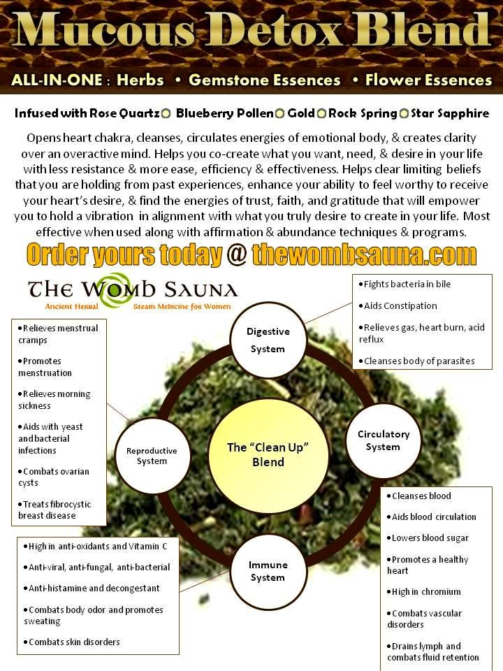 Get your gemstone and flower essence infused Mucous Detox ...