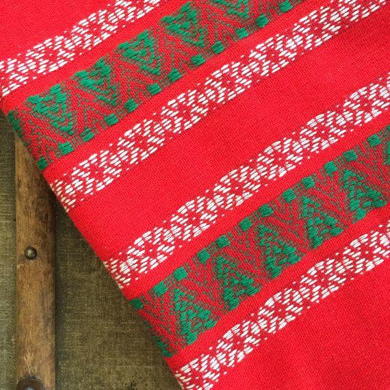 Scandinavian Tablecloth  Christmas  Woven by JustSmashingDarling