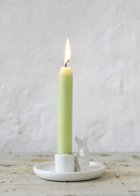 Lysestake hvit kanin Affari | bergamott.no - Skandinavisk interiør og norsk smykkedesign