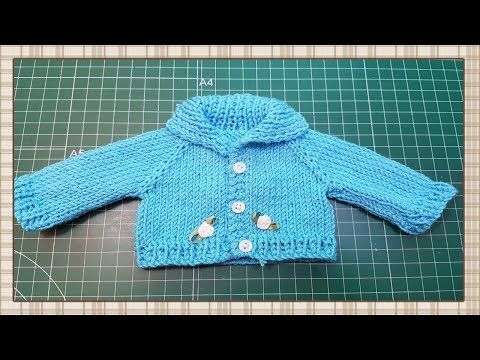 Tutorial:  Chaqueta de punto para muñecas / knit jacket for dolls tutorial - YouTube