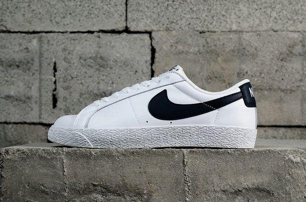 Mode Nike Blazer Sb Zoom Low Fashion Skate Shoes 864347-141 White blanc  Obsidian Youth Big Boys Shoes dd899dba3
