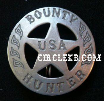 Bounty Hunter USA Western Style Law Badge at Circle KB.com All Western Cowboy