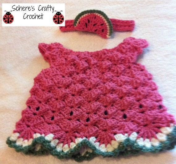 Free Crochet Watermelon Dress Pattern : 17 Best images about CROCHET summer for kids on Pinterest ...