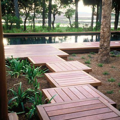 Small decks as walkway