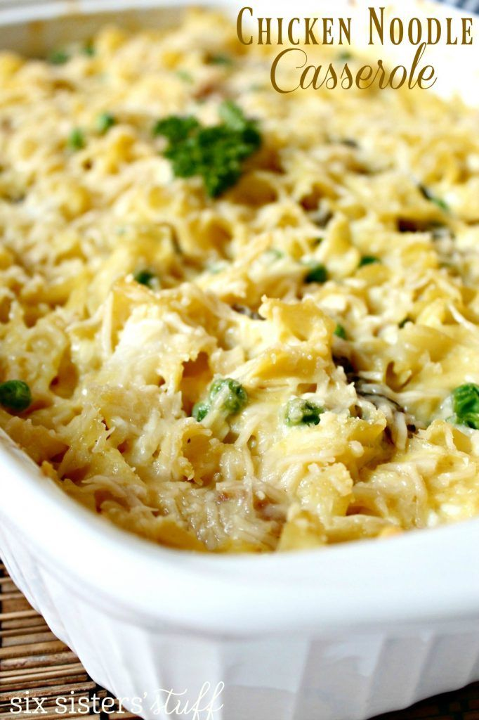 Easy Chicken Noodle Casserole from Sixsistersstuff.com