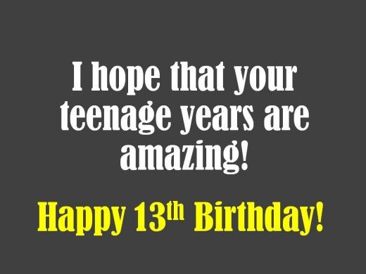 Best 25 13th birthday wishes ideas – 13 Year Old Birthday Card