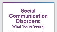 Graphic of Social communication disorder: What you're seeing