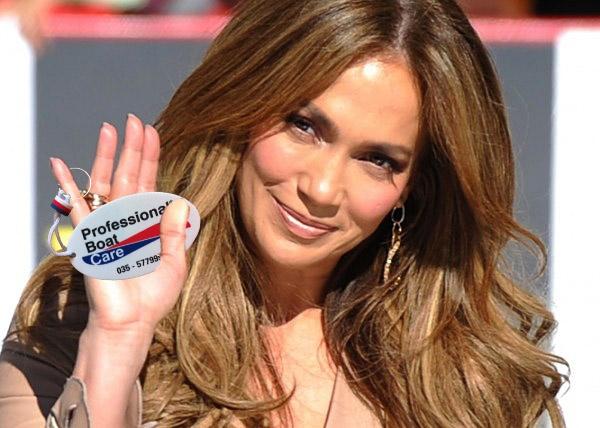 Jennifer Lopez kan haar sleutel hanger niet meer los laten!