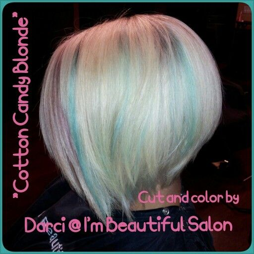 Cotton Candy Blonde Pastel Blue And Pink Platinum