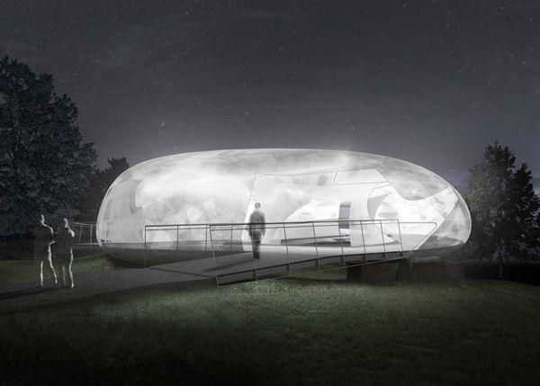 2014 Serpentine Pavilion / Cloud-Like Structure By Smiljan Radic