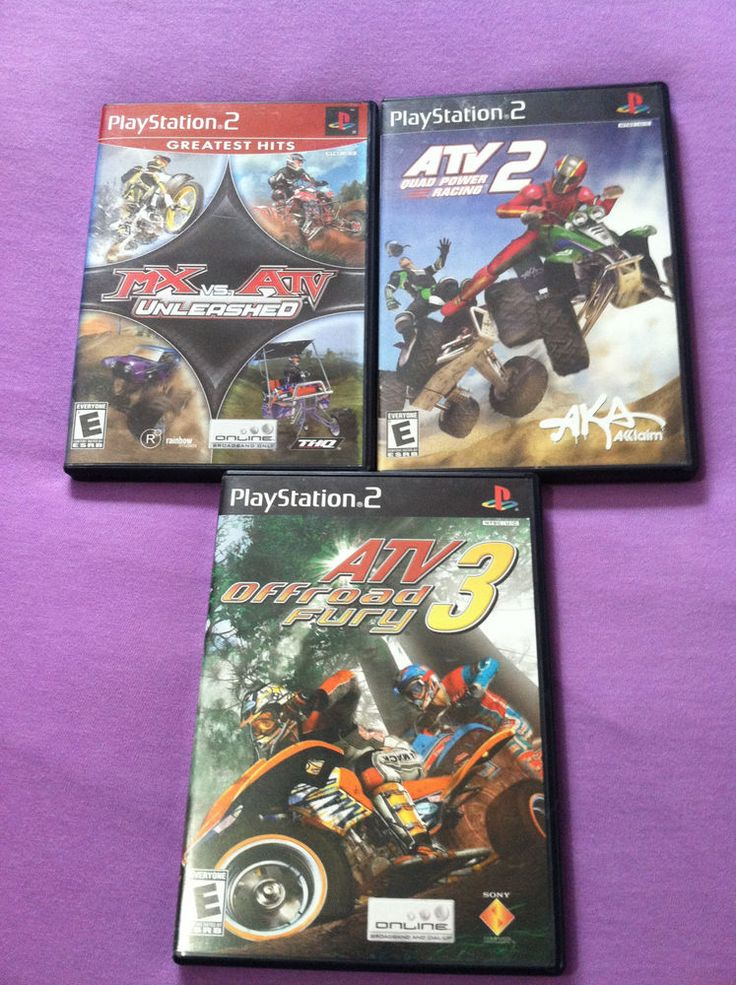 PS2 ATV Video Games MX vs ATV Unleashed ATV 2 Quad Power ATV 3 Offroad Fury