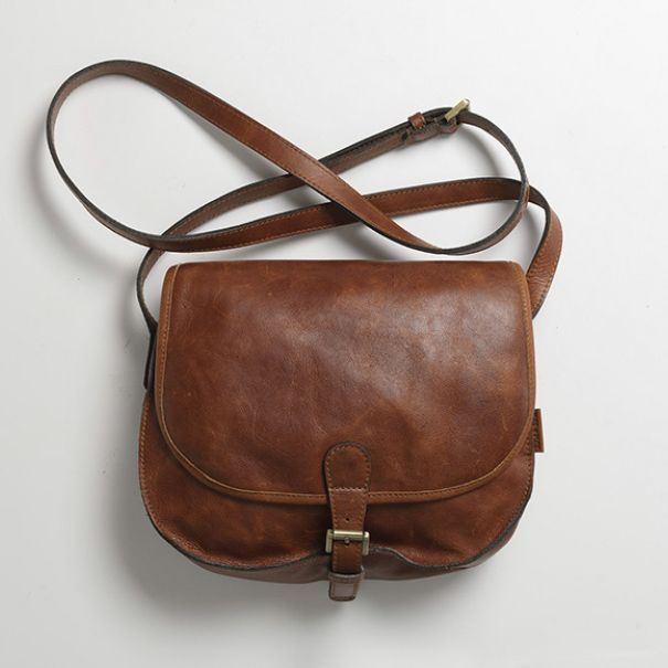 The perfect leather saddle bag