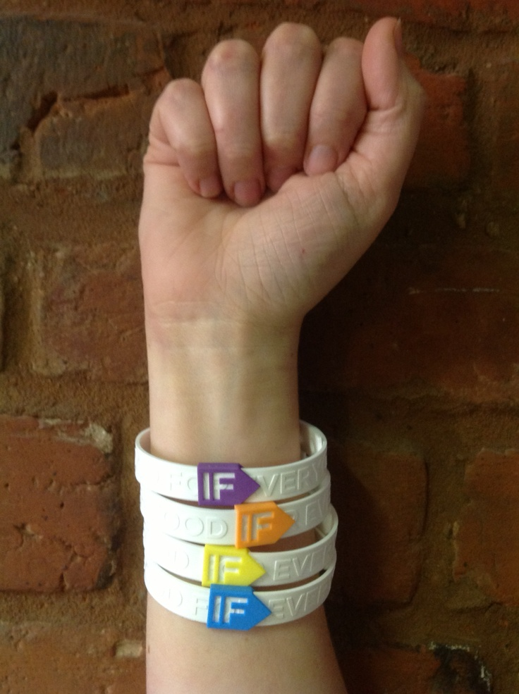 IF campaign wristbands to help raise awareness and funds