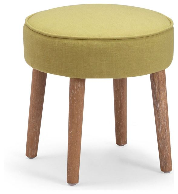 Britton Stool Aqua midcentury-ottomans-and-cubes