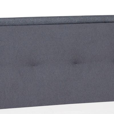 Click to zoom - Morrison felt solid wood frame ottoman storage bed double grey