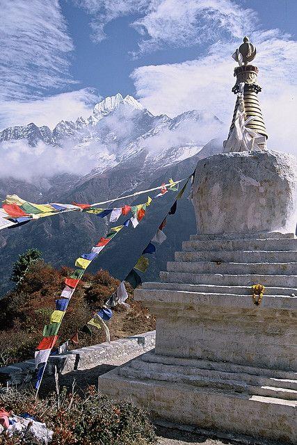 Tenzing Chorten, Everest Trail by FarhadZB, via Flickr